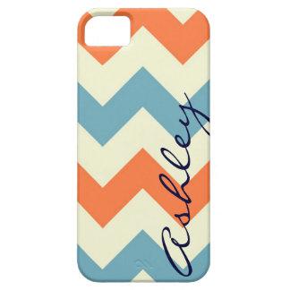 Name orange blue chevron zigzag zig zag pattern id iPhone 5 cover