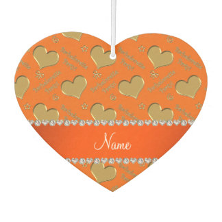 Name orange gold hearts bachelorette party