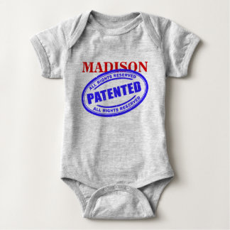 NAME - PATENTED - ALL RIGHTS RESERVED BABY BODYSUIT
