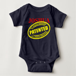NAME - PATENTED - INTELLECTUAL PROPERTY BABY BODYSUIT