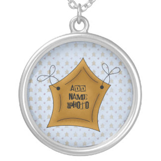 Name Photo Star Sterling Silver Necklace Pendent