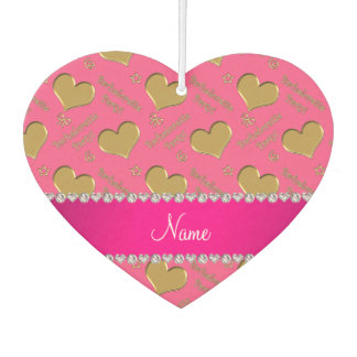 Name pink gold hearts bachelorette party