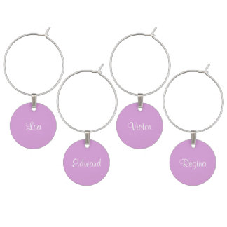 Name Plum Durable Monochrome Wine Charms