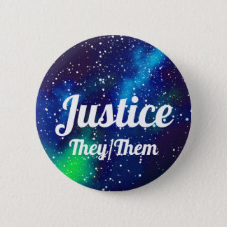 Name ___ + Pronouns Customisable Galaxy 6 Cm Round Badge