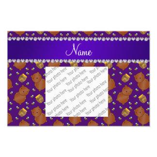 Name purple bears honeypots bees pattern photo art