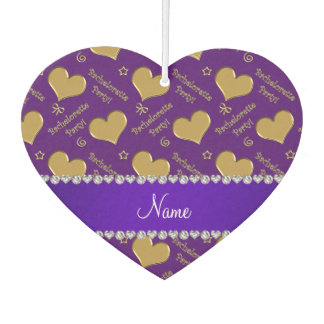 Name purple gold hearts bachelorette party