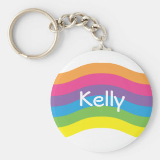 Name Rainbow Wave Key Ring