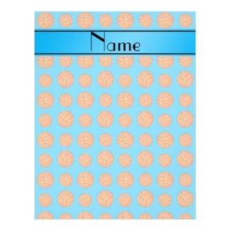 Name sky blue basketball pattern flyer