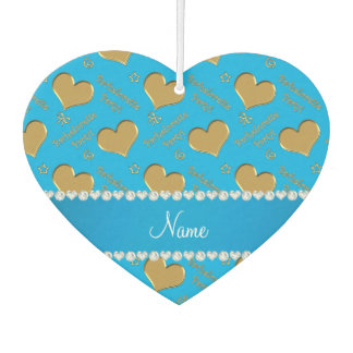 Name sky blue gold hearts bachelorette party