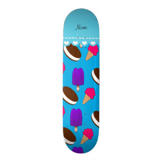 Name sky blue ice cream cones sandwiches popsicles skate boards