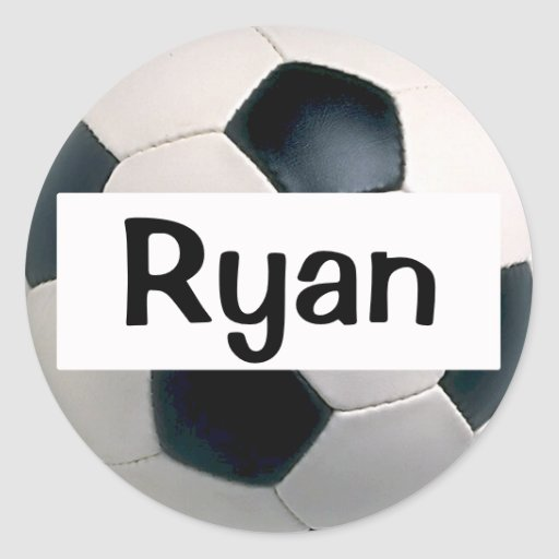 Name Soccer Ball Stickers