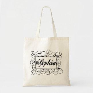 Name Sophia in black inside stylish frame Tote Bag