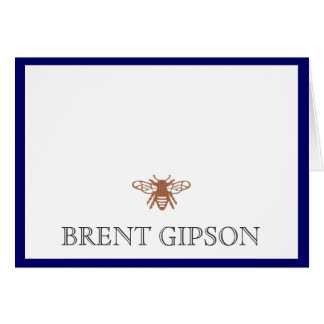 Name Stationary with Bee Card