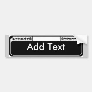 Name Street Sign Blank, Add Text Bumper Sticker