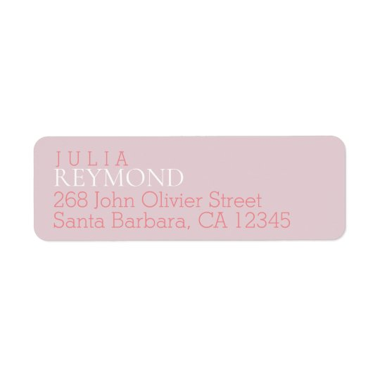 name & surname with home address on pink return address label
