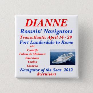 name tag navigator white 15 cm square badge