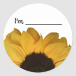 Name Tag Sunflower Sticker