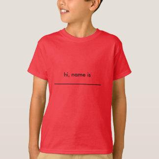 name tag t-shirt