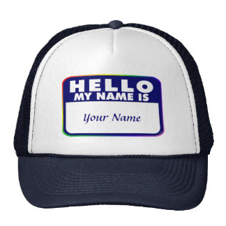 Name Tag Template Cap