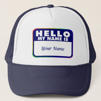 Name Tag Template Trucker Hat