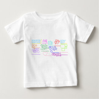 'Name The Shapes & Colour In' Activity Baby Shirt