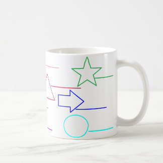 'Name the Shapes, Colour In' Activity Coffee Mug