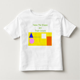 'Name The Shapes & Colours' Activity Baby Shirt
