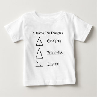 name the triangles baby T-Shirt