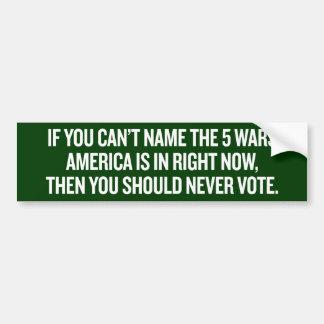 Name the Wars Bumper Sticker