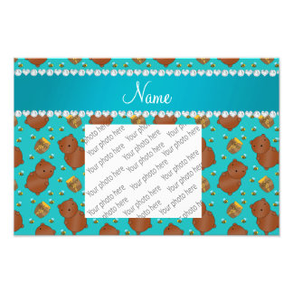 Name turquoise bears honeypots bees pattern photo