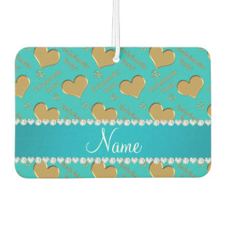 Name turquoise gold hearts bachelorette party