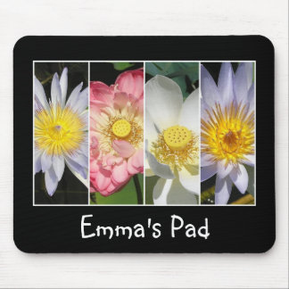 Name Waterlily and Lotus Mouse Pad