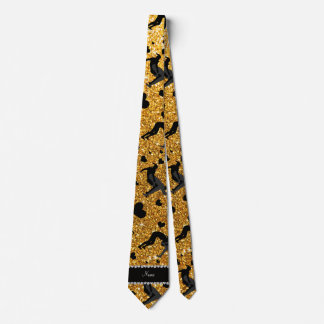 Name yellow glitter wrestling hearts bows tie