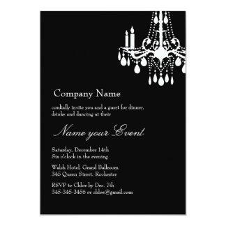 Name your Event Black Grand Ballroom 13 Cm X 18 Cm Invitation Card