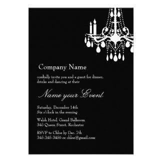 Name your Event Black Grand Ballroom Invite