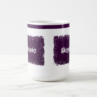 Name Your Mug cracked  effect