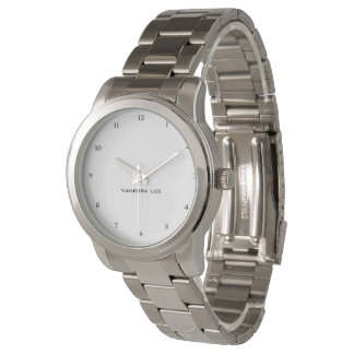 Name Your Oversize Silver Bracelet Watch