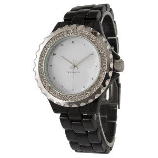 Name Your Rhinestone Black Wristwatch
