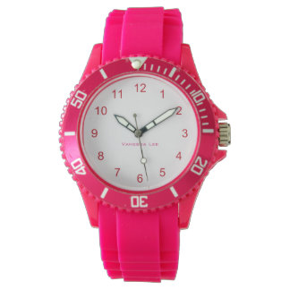 Name Your Sporty Pink Wristwatch