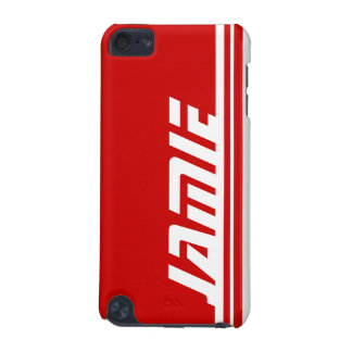 Named 5 letter red & white stripe sports ipod case iPod touch (5th generation) cases