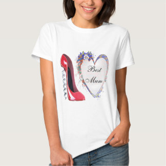 Named Corkscrew Red Stiletto Shoe and Heart Gifts Shirt