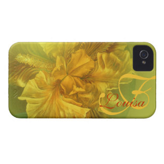 Named iris floral yellow art iphone4S barely case