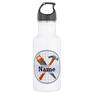 Named Personalized Tools design for boys. 532 Ml Water Bottle