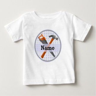 Named Personalized Tools design for boys. Baby T-Shirt