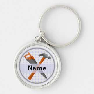 Named Personalized Tools design for boys. Key Ring