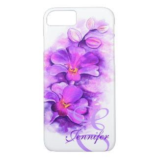 Named radiant Orchid purple art floral iphone case