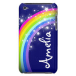 Named rainbow on navy ipod case barely there iPod covers