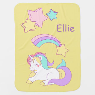Named Unicorn Baby Blanket