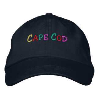 Namedrop Nation_Cape Cod multi-colored Embroidered Baseball Cap