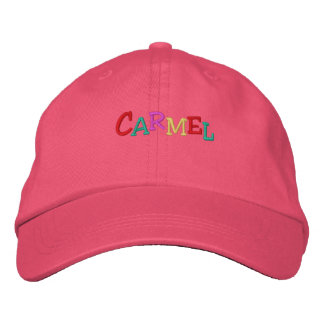 Namedrop Nation_Carmel multi-colored Embroidered Hat